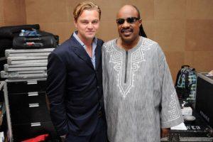Leonardo DiCaprio con Steve Wonder Foto:Getty Images