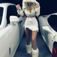 La hija menor de Caitlyn Jenner se convirtió en la reina de las nieves. Foto:vía instagram.com/kyliejenner