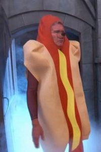 """La estrella de """"Star Wars"""" e """"Indiana Jones"""" apareció como un hot dog. Foto:ABC"""
