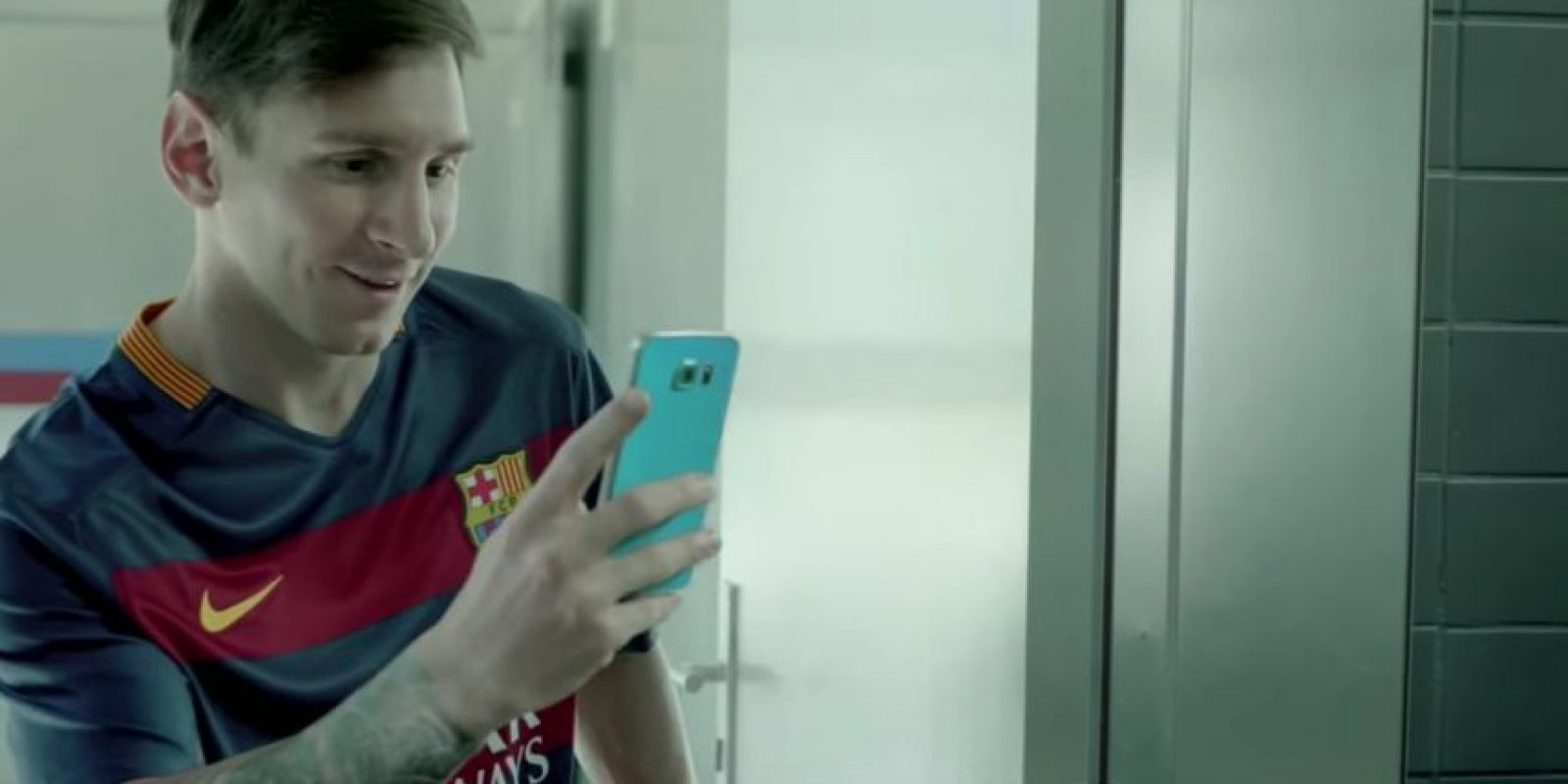 Messi grabó al brasileño mientras bailaba. Foto:FC Barcelona / YouTube