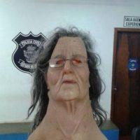 La máscara que usó para intentar salir Foto:Policia Civil – Brasil