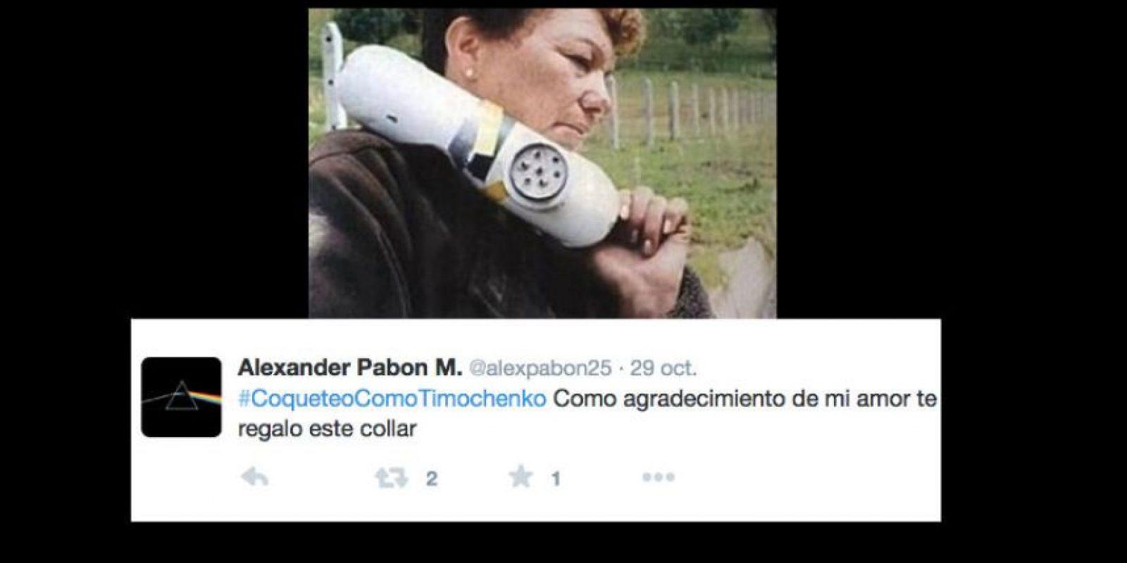 Incluso este collar bomba (que no pusieron ellos, pero no cesan de adjudicarles el hecho). Foto:vía Twitter