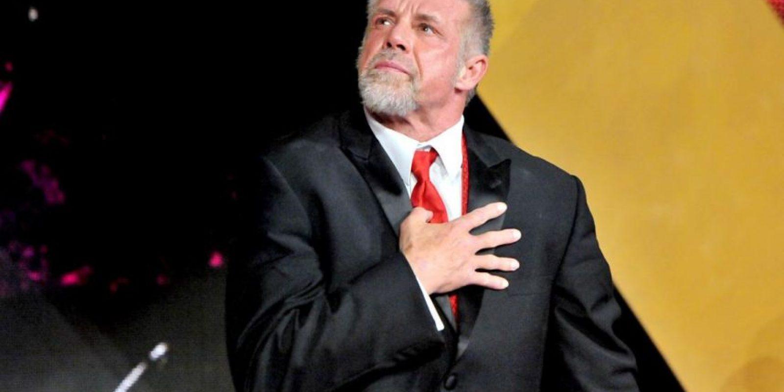 Durante su inducción al Salón de la Fama en 2014, un día antes de perder la vida Foto:WWE