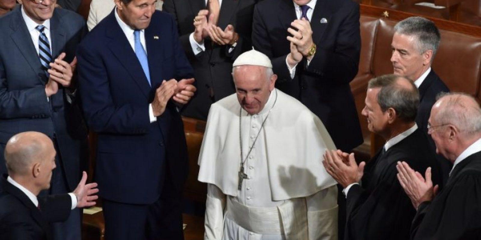 También visitó el Congreso estadounidense Foto:AFP