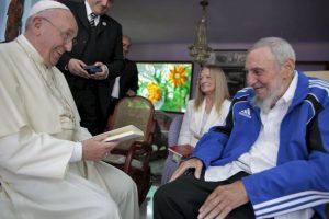 Ambos conversaron cerca de 45 minutos Foto: AFP