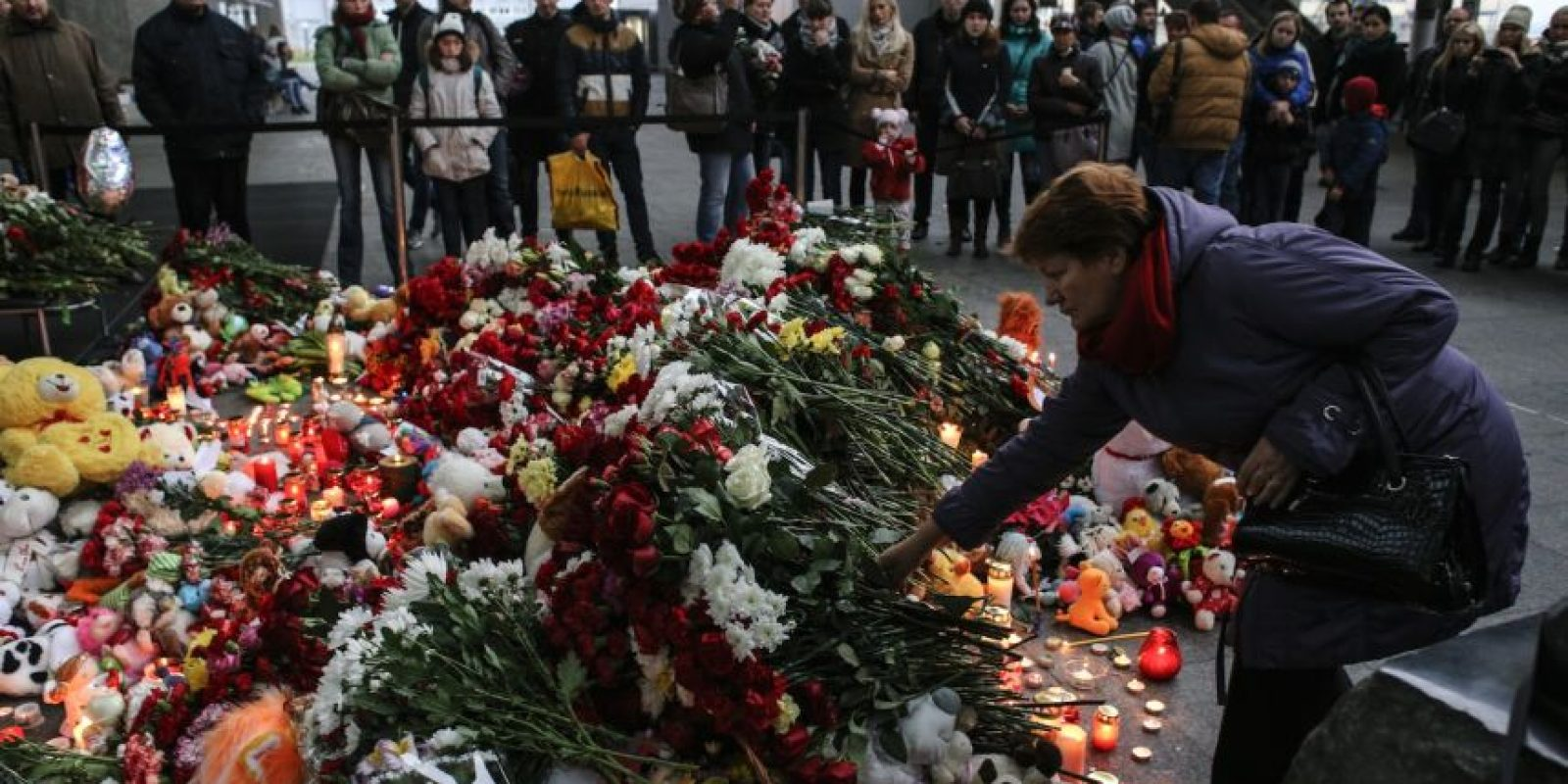 En San Petersburgo, se rindió homenaje a las víctimas Foto:Getty Images