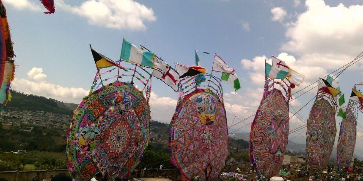 Fotos. Se celebra el Festival del barrilete en Santiago Sacatepéquez