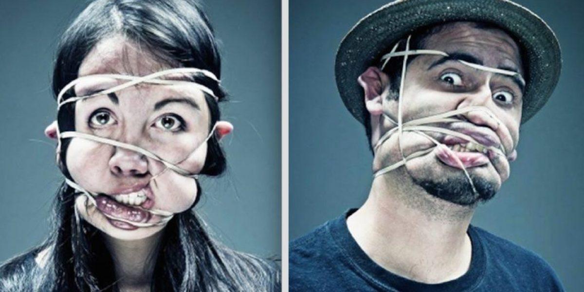 FOTOS. Impactantes imágenes de rostros desfigurados con un hule