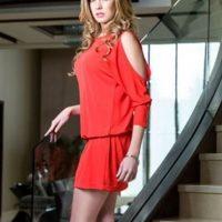 Rutila Casillas era Emma Coronel Aispuro, papel realizado por Carmen Aub Foto:Telemundo