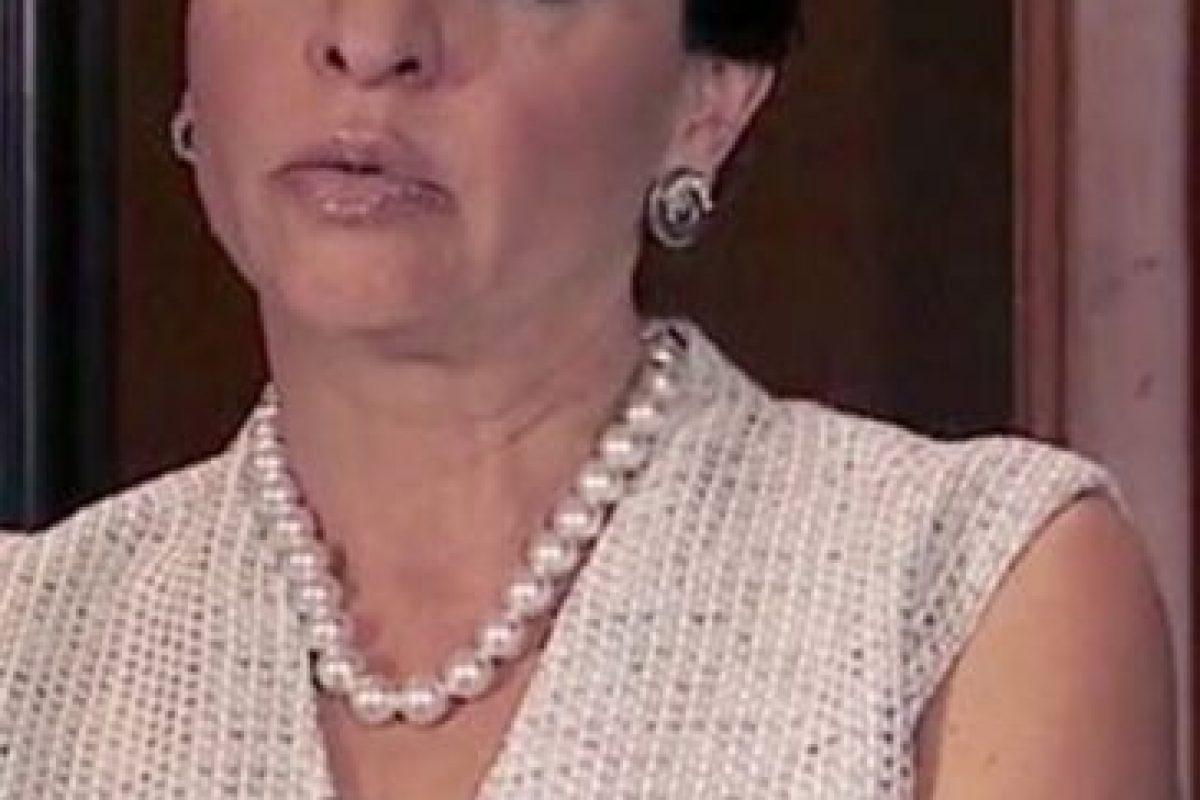 Marta María Sahagún Jiménez era Mirta 'Mirtita' Saavedra, y quien diera vida a ese personaje fue Verónica Falcón Foto:Telemundo
