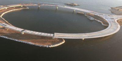 El puente entre Rocha y Maldonado se analiza desde 1950. Hasta ahora, los vehículos debían cruzar en una balsa. Foto:Vía rvapc.com/blog