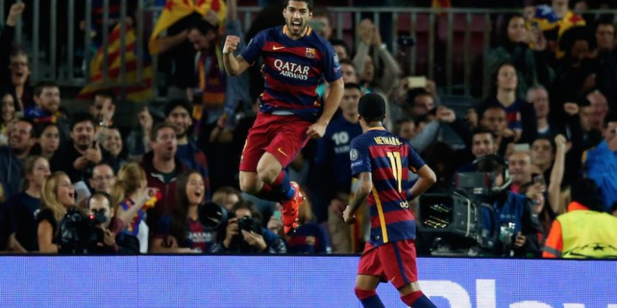 Neymar y Suárez le dan al Barça el pase a los octavos de la Champions