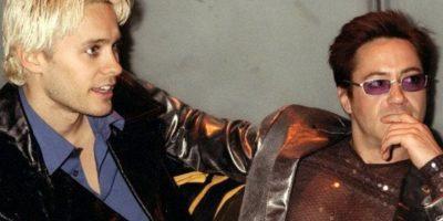 En los 90, con Jared Leto. Foto:vía Facebook/Robert Downey Jr.
