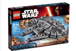 """La versión Lego del """"Halcón Milenario con las figuras de """"Han Solo"""" y """"Chewie"""" Foto:Lego"""