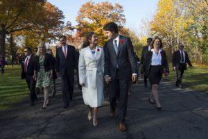 Está casado con Sophie Grégoire y tienen tres hijos, Xavier, Hadrien y Ella-Grace Foto:AP