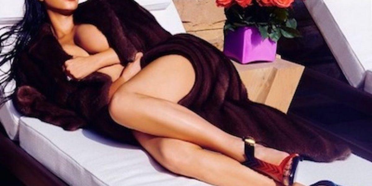 Así luce el rostro de Kim Kardashian sin la ayuda del Photoshop