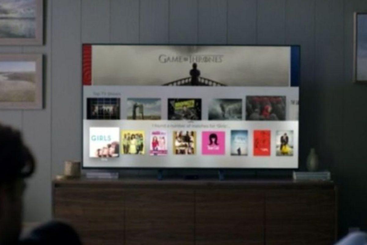 Así se verá en sus televisores. Foto:Apple
