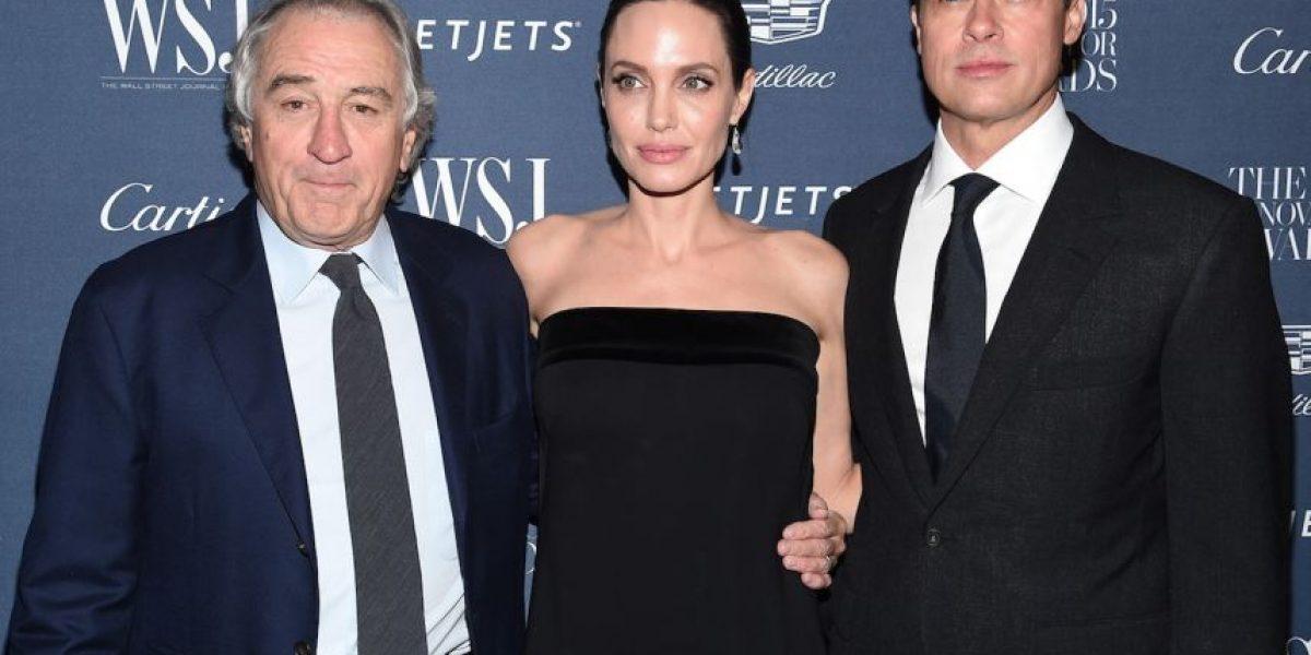Brad Pitt se mostró muy cariñoso con Robert De Niro