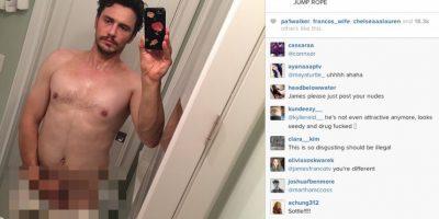 El actor y comediante reveló esta imagen en Instagram, pero la eliminó minutos después por la censura de Instagram. Foto:vía instagram.com/jamesfranco