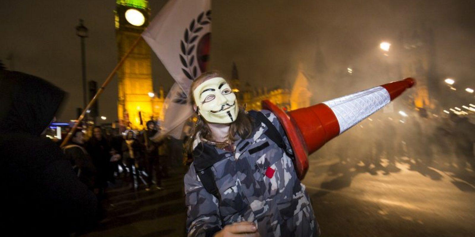Protesta anticapitalista en Gran Bretaña. Foto:AFP