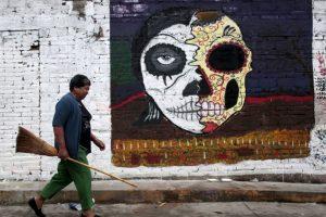 Celebración del Día de Muertos en México. Foto:AFP