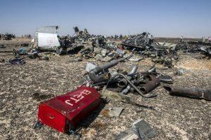 Escombros del avión ruso accidentado. Foto:AFP