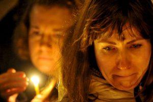 Vigilia por las víctimas del avión ruso que se estrelló el pasado sábado. Foto:AFP