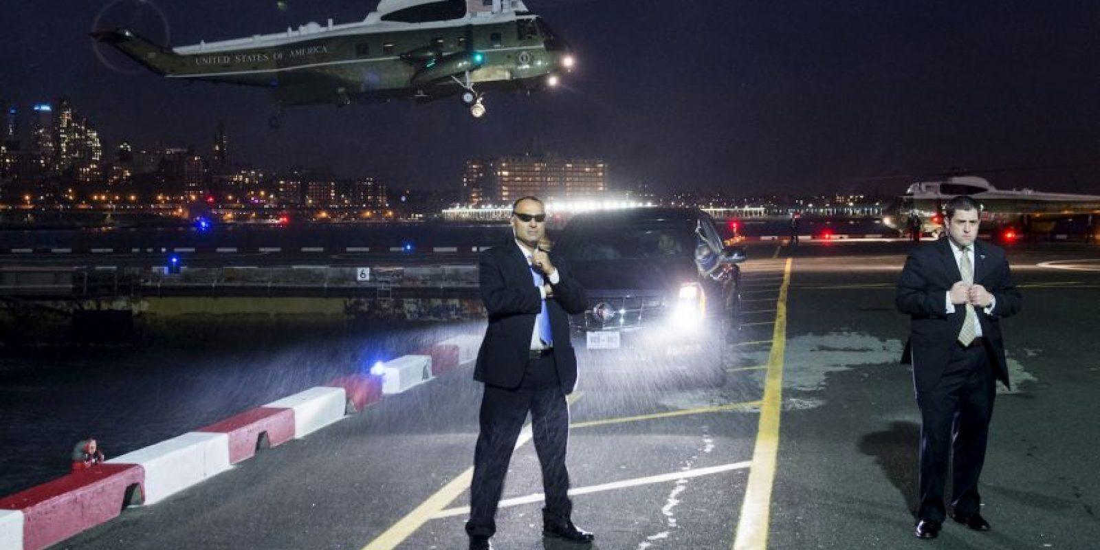 Servicio Secreto espera que el presidente de Estados Unidos, Barack Obama llegue a Nueva York. Foto:AFP