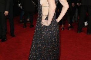 Fue durante la alfombra roja de Londres, donde lució este atuendo color negro. Foto:Getty Images