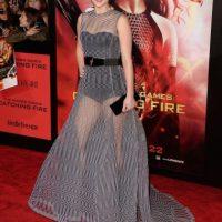 Ese mismo año, sorprendió a los fans con este vestido largo semitransparente. Foto:Getty Images
