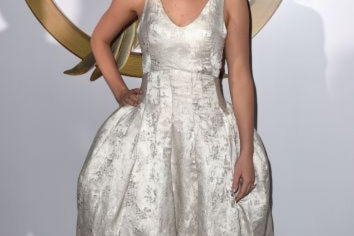 """Y en la gala de Los Ángeles, se lució con este vestido """"tipo princesa"""". Foto:Getty Images"""