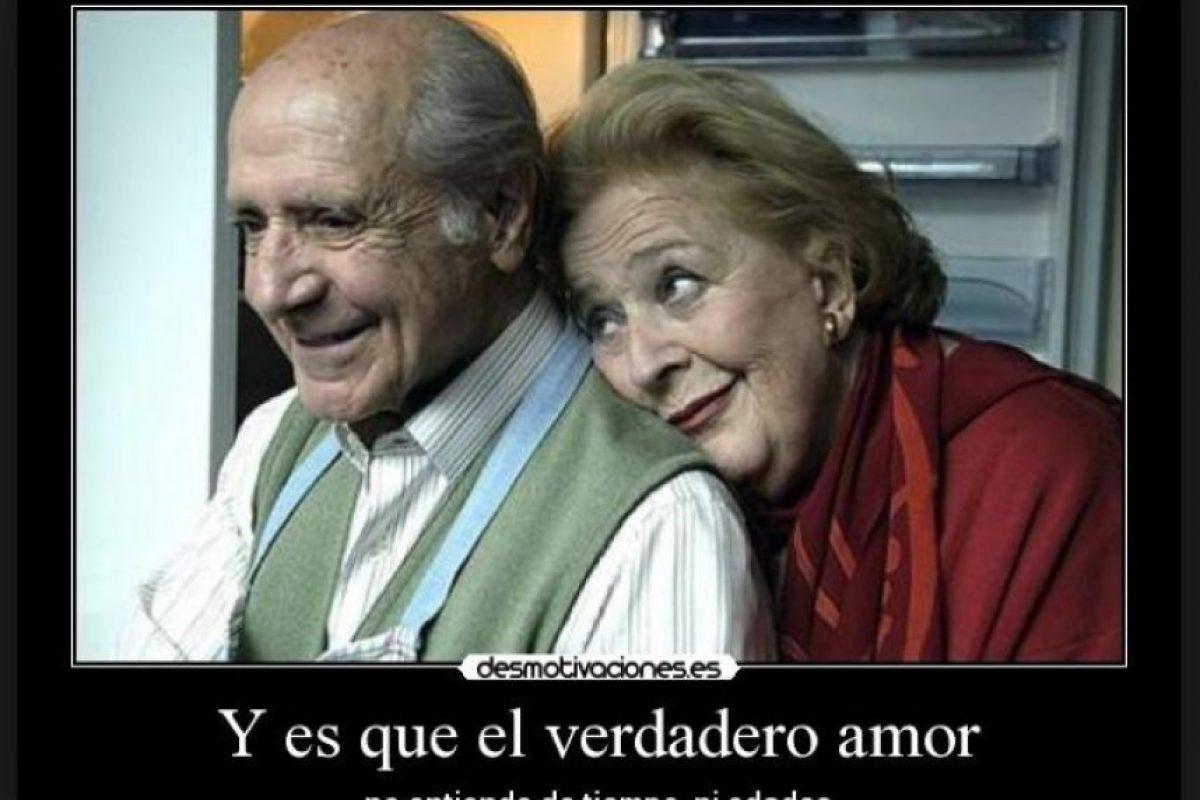 """""""El verdadero amor no entiende de tiempos ni edades"""". Foto:Tumblr"""