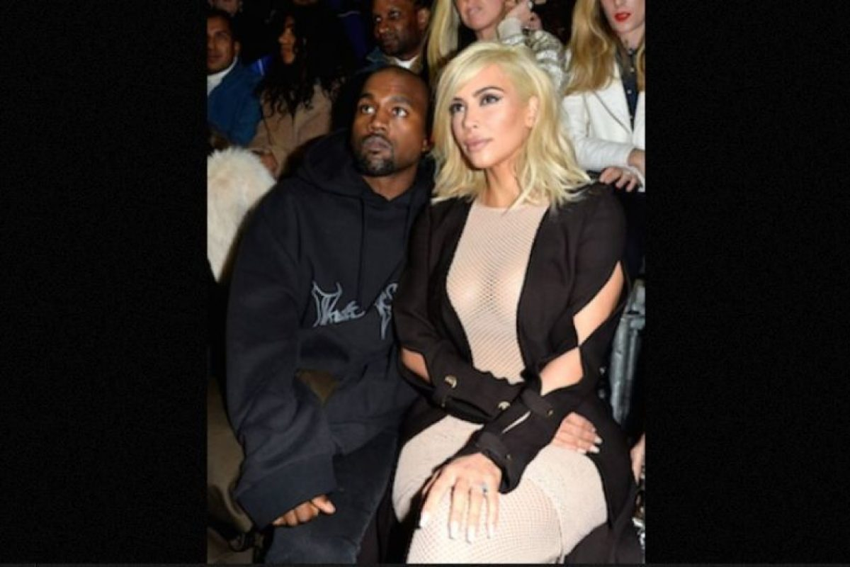Kim Kardashian sin sostén Foto:Getty Images