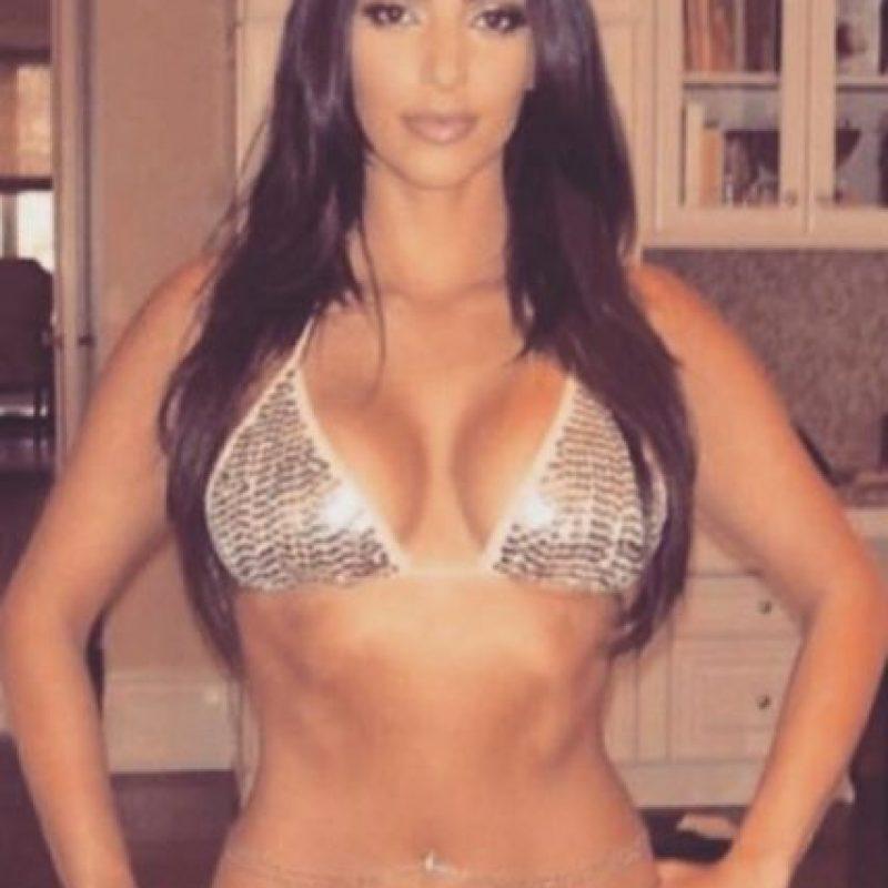 Esta es la foto que North West filtró de su madre. Foto:vía instagram.com/kimkardashian