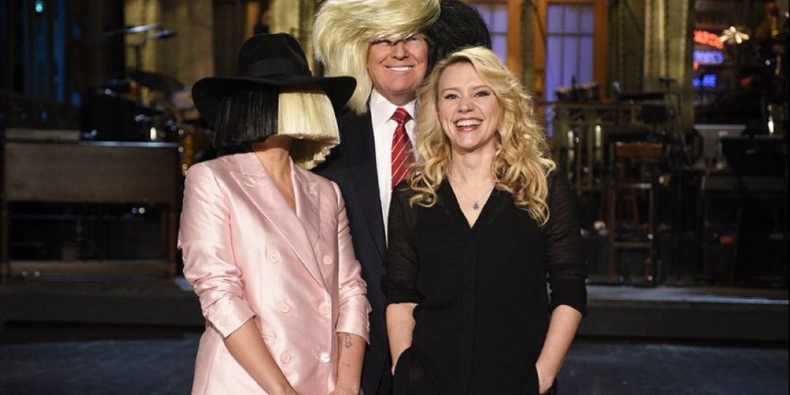 Todo ocurrió durante el promocional en el que el precandidato aparecerá. Foto:Vía Twitter @SNL