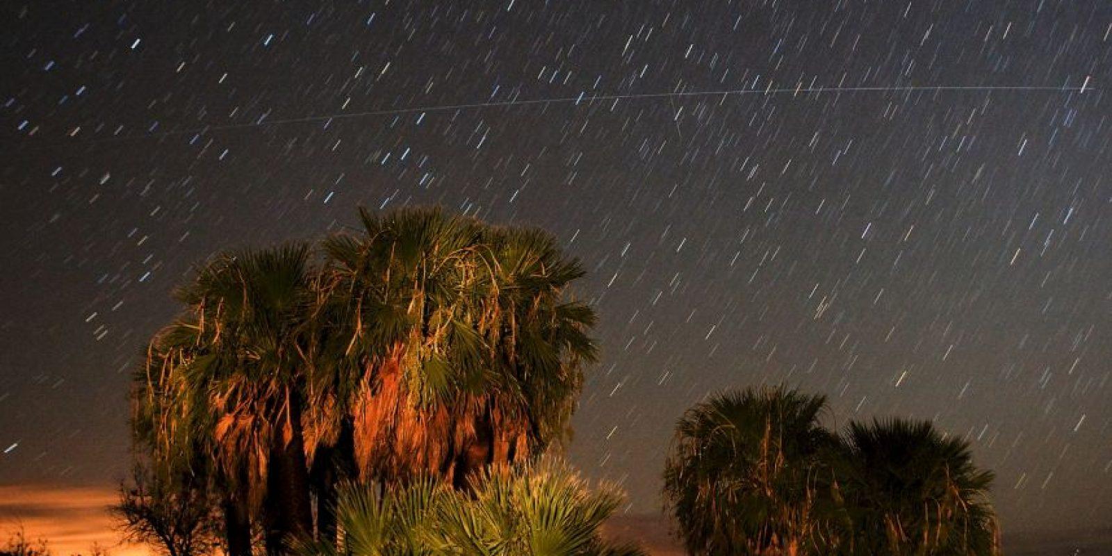 Así se ve una lluvia de estrellas desde la Tierra. Foto:Getty Images