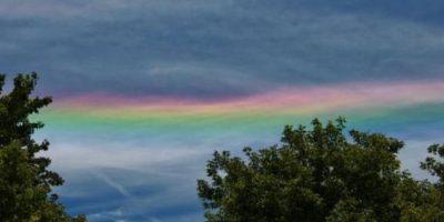 """Algunos ciudadanos catalogaron el acto como """"la señal de Dios"""" Foto:facebook.com/TheWeatherChannel/photos"""