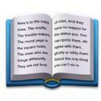 """Este libro contiene parte del comercial de Apple de 1997 llamado """"Piensa diferente"""". Foto:Pinterest"""