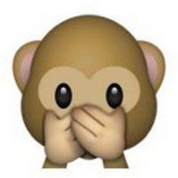 """Es uno de los tres monos sabios, parte de un proverbio budista, que en este caso es: """"No voy a decir el mal"""". Utilizado en casos como: """"No voy a decir nada"""", """"mis labios están sellados"""" o """"no voy a decir eso"""". Foto:Pinterest"""