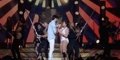 """Juntos interpretaron """"El Mismo Sol"""" Foto:Getty Images"""