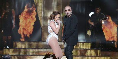 Misma que interpretó con el reguetonero Wisin Foto:Getty Images