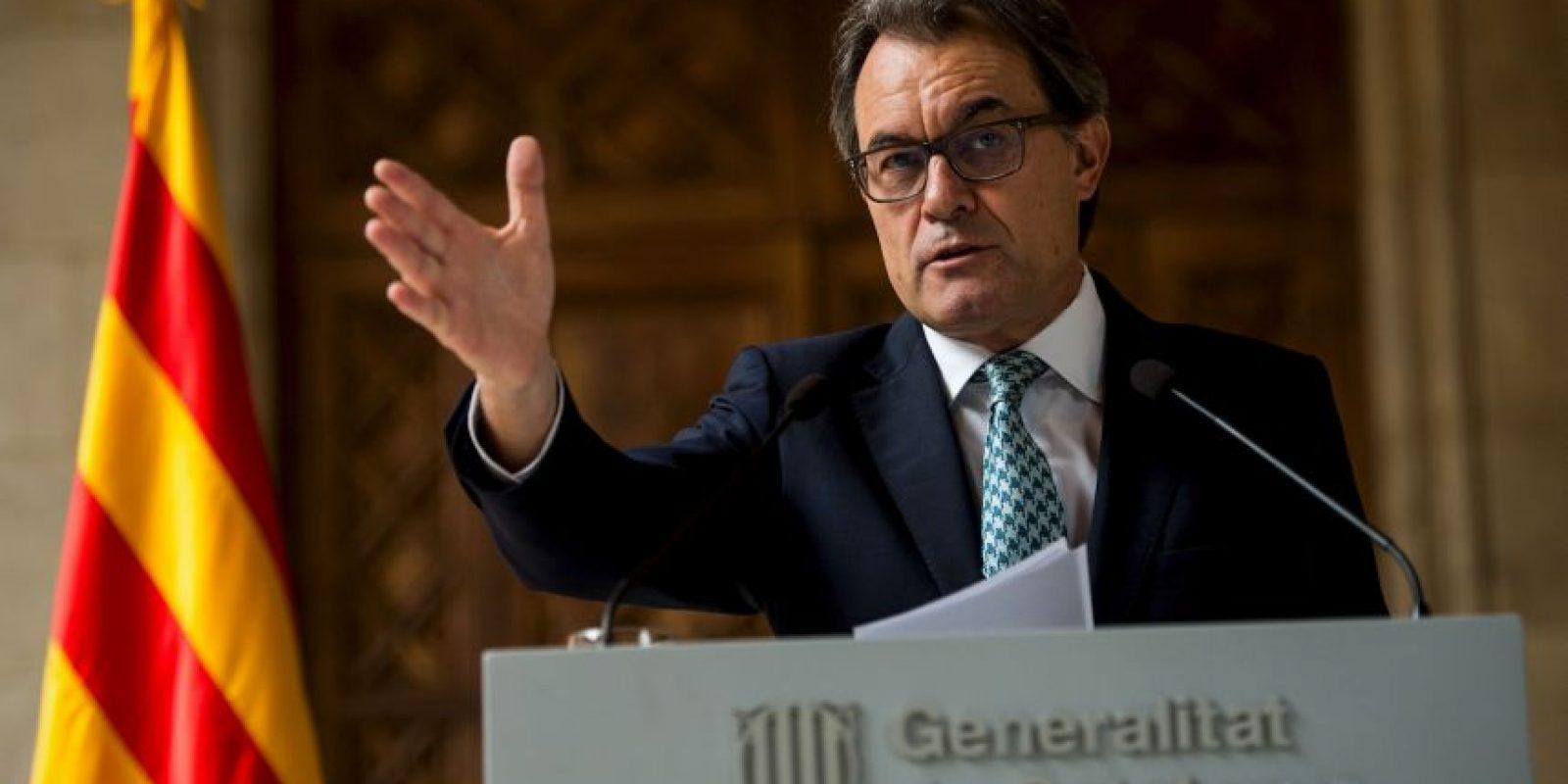 """""""Queremos una estructura de Estado dentro del Euro y la Unión Europea"""", dijo Mas el pasado 12 de septiembre Foto:Getty Images"""