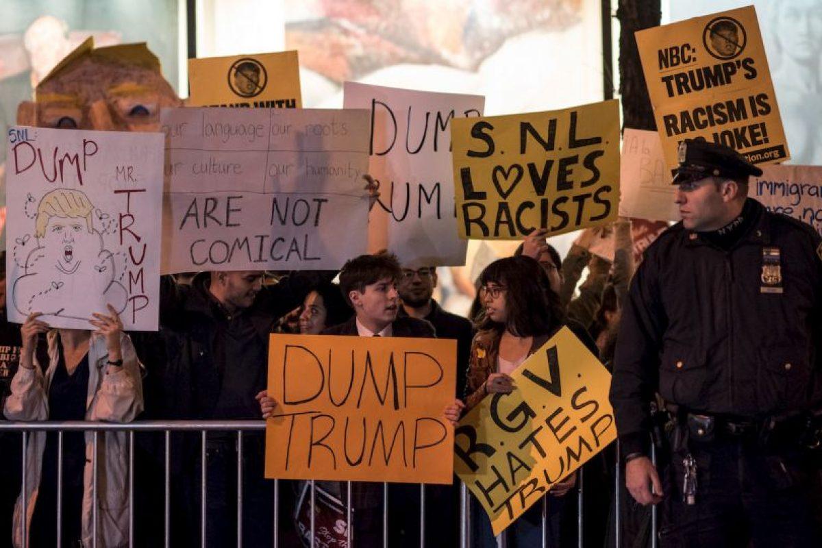 Se registraron manifestaciones a favor y en contra el republicano. Foto:Getty Images