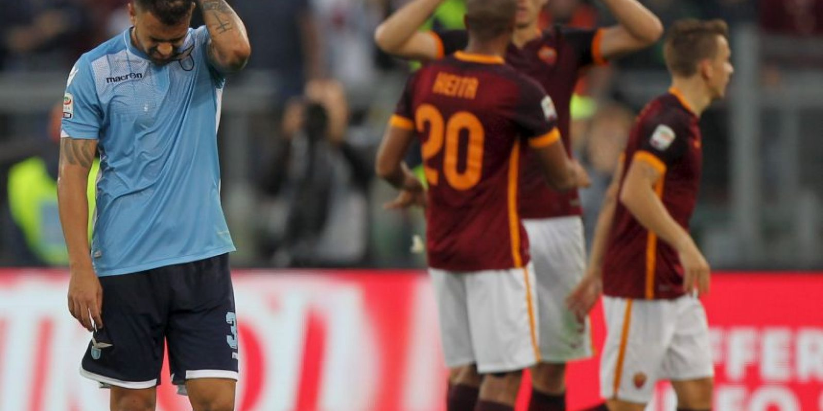 Roma se impuso 2-0 a Lazio en el Derby della Capitale Foto:Getty images