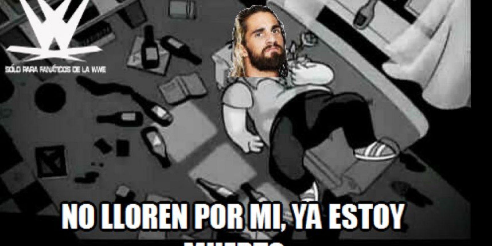 WWE: Los mejores memes por la lesión de Seth Rollins Foto:Twitter