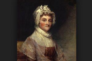 No solo los mandatarios se manifiestan también sus esposas. Así fue el caso de Abigail Adams esposa de John Adams, que de vez en cuando aparece en el servicio de lavandería. Foto:Vía wikipedia.org