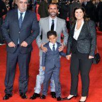 Lo acompañaron su madre, Dolores Aveiro y su hijo, Cristiano Ronaldo Jr. Foto:Getty Images