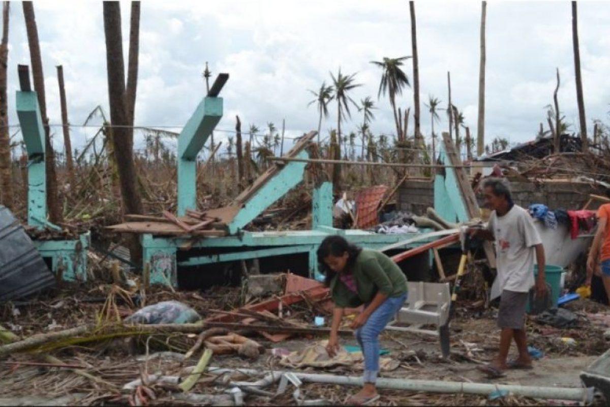 El tifón Haiyan o Yolanda el 2 de noviembre de 2013. Uno de los ciclones tropicales más intensos en la historia moderna. Mató a 6 mil 300 personas. Foto:Getty Images