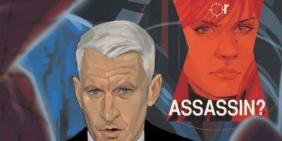 """Anderson Cooper hace un cameo breve en uno de los cómics de """"Black Widow"""". Foto:vía Marvel Cómics"""