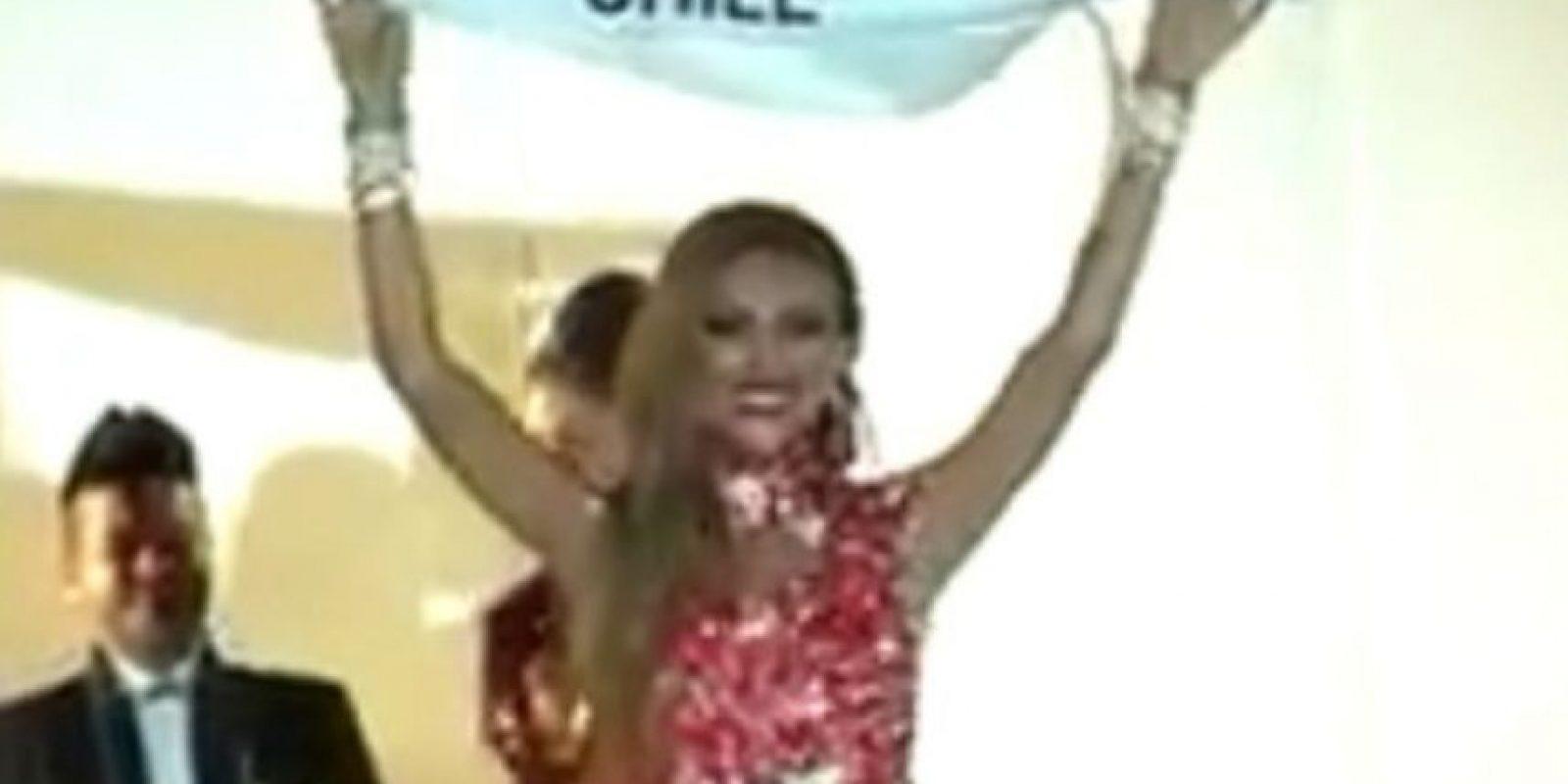 """La chilena fue la ganadora del concurso """"Miss Trans Star International"""", el pasado 15 de septiembre. Foto:Vía Vimeo"""